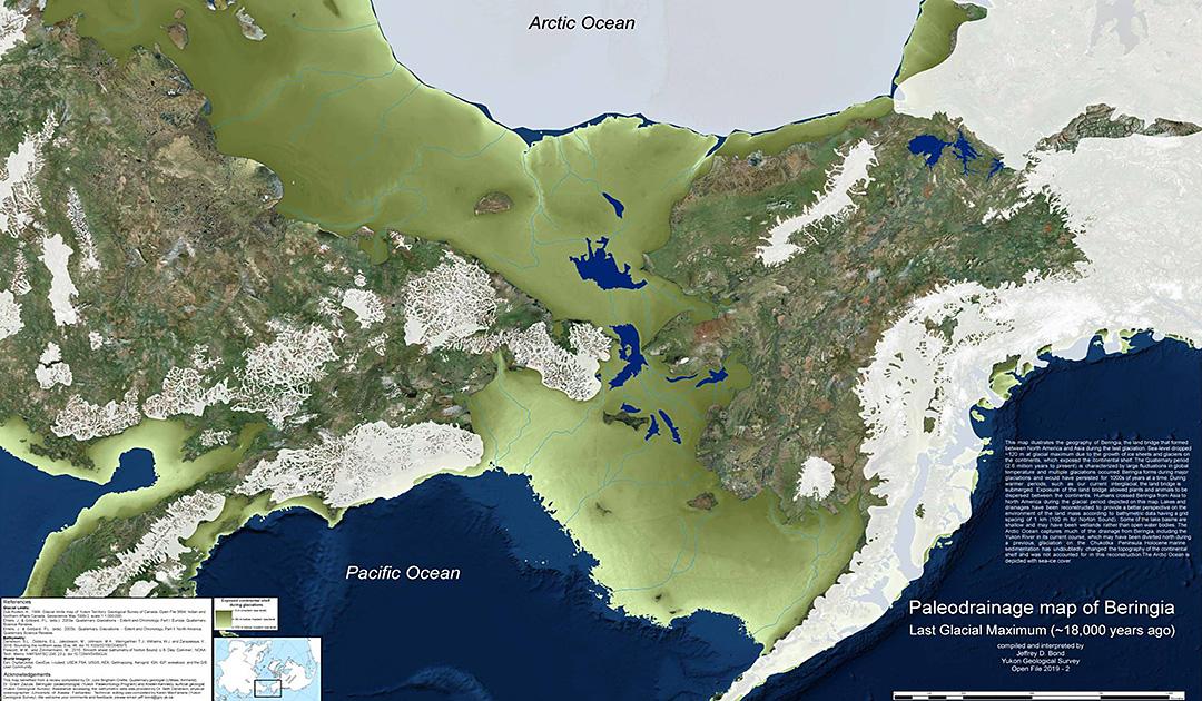 Neue Karte zeigt Landbrücke zwischen Russland und USA