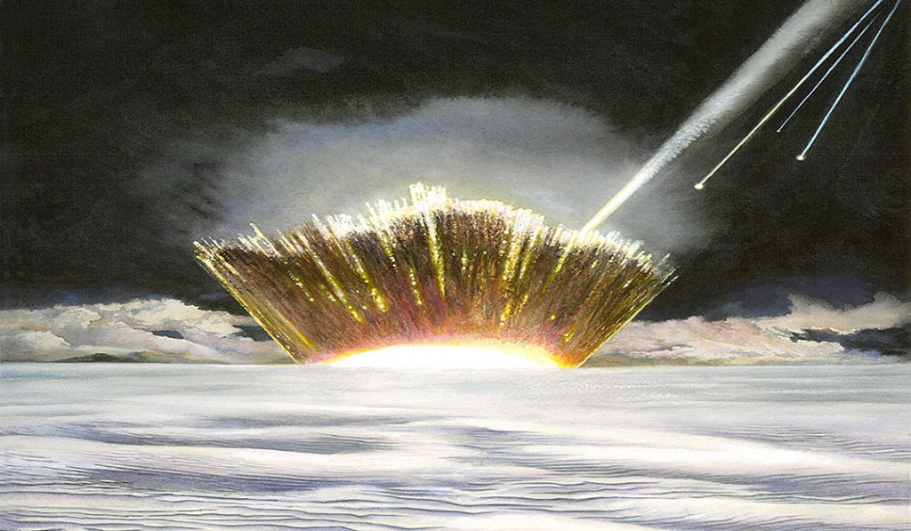 Massiver Meteoriten-Einschlagskrater entdeckt