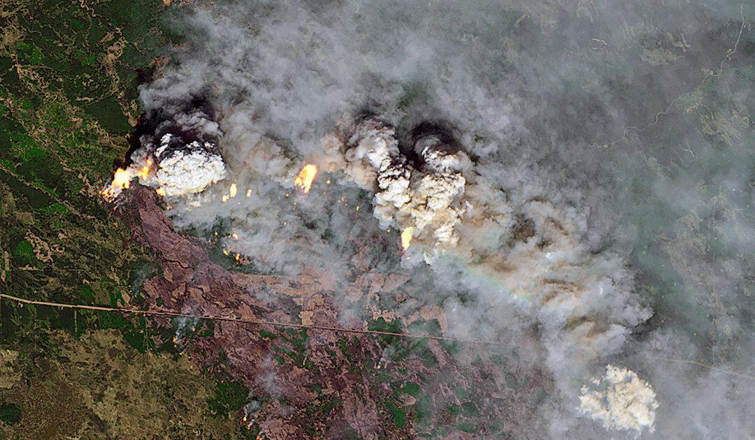 Buschfeuer wüten in viele Gebieten der Arktis seit Juni