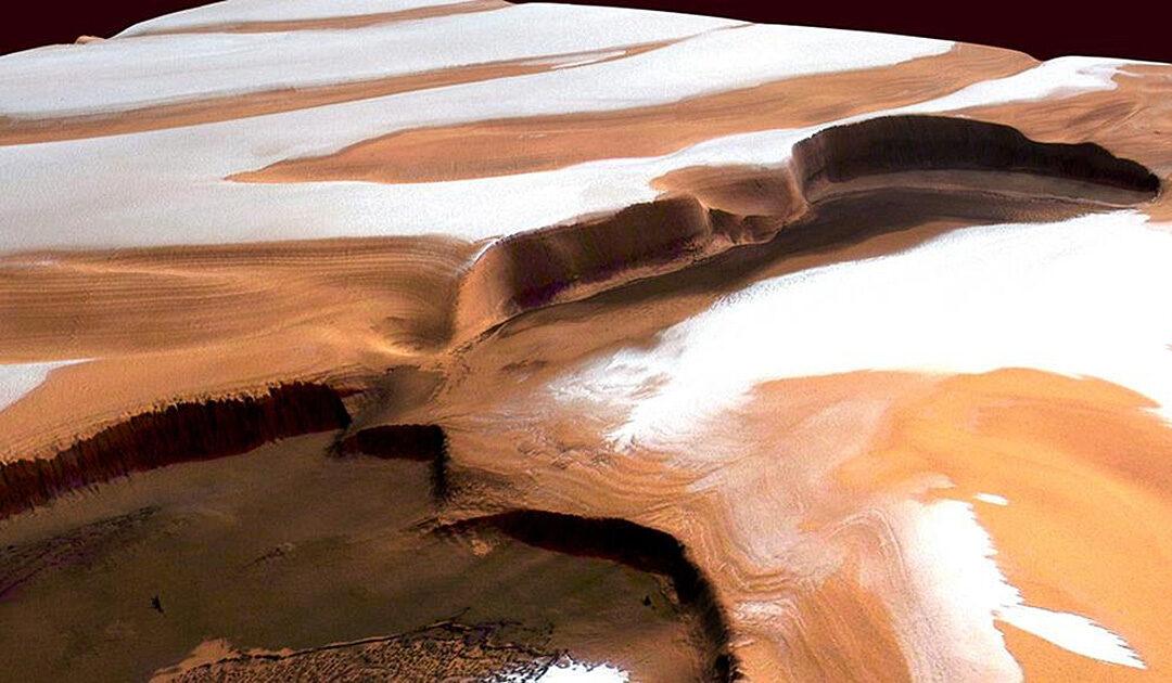 Eisschilde bedeckten einst den Mars