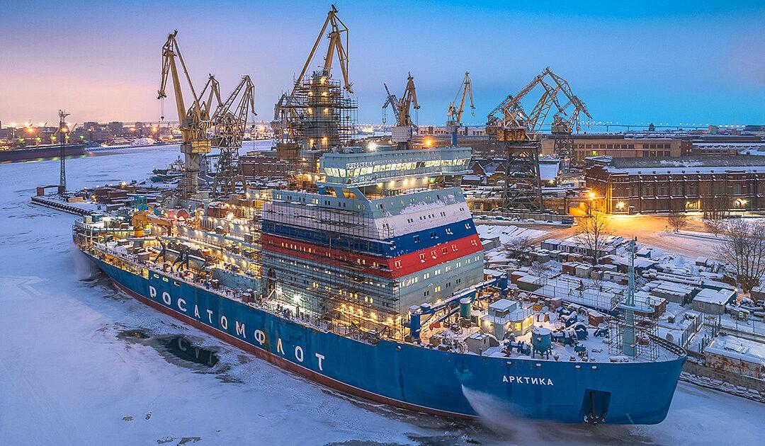 «Arktika» weltweit stärkster Eisbrecher im Testlauf