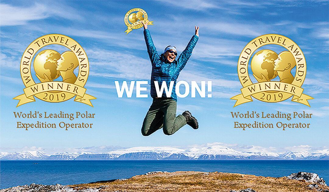Oceanwide Expeditions ist fünfmaliger Gewinner des Preises für den weltweit führenden Polar Expedition Operator