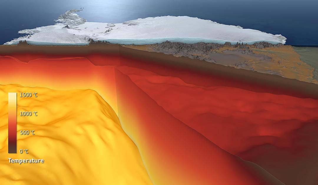 Kieler Wissenschaftler visualisieren den inneren Aufbau der Antarktis
