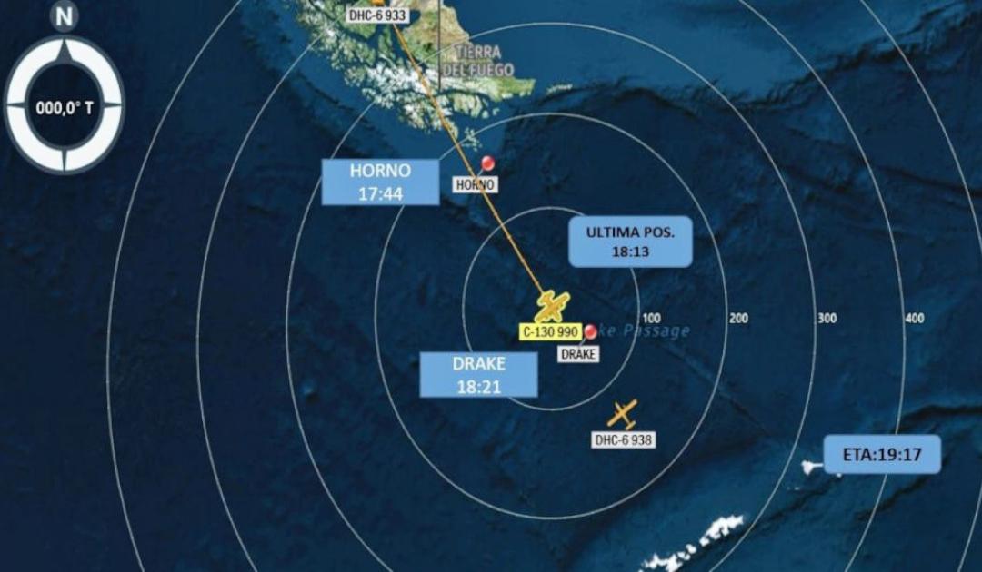 Chilenisches Flugzeug über der Drake Passage vermisst