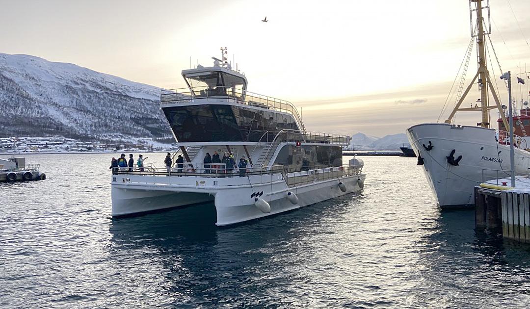 Der Bau befindliche Elektro-Katamaran «Bard» wird ab Sommer 2020 in Svalbard zum Einsatz kommen
