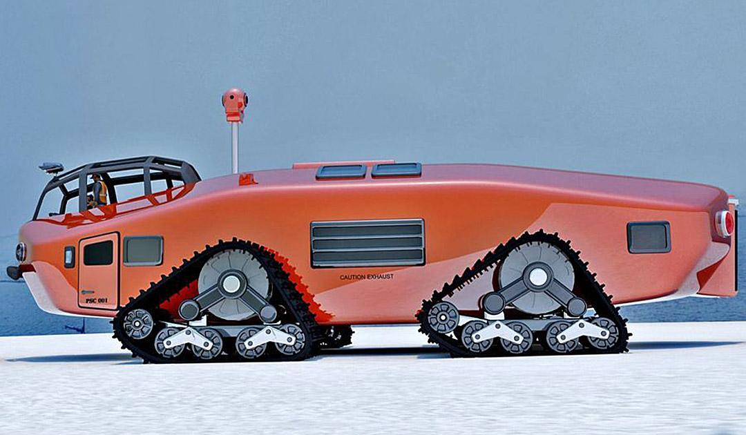 Trucker-Show im Eis