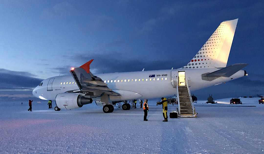 Rettungsflug in die Antarktis