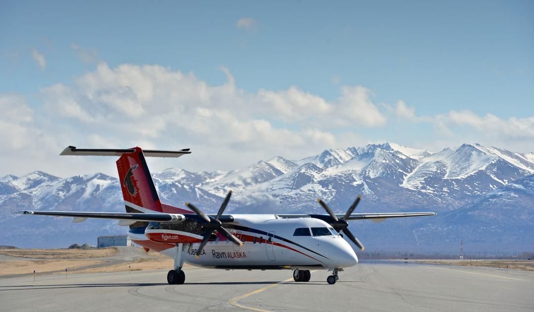 Alaska's grösster Regionalflieger liegt am Boden