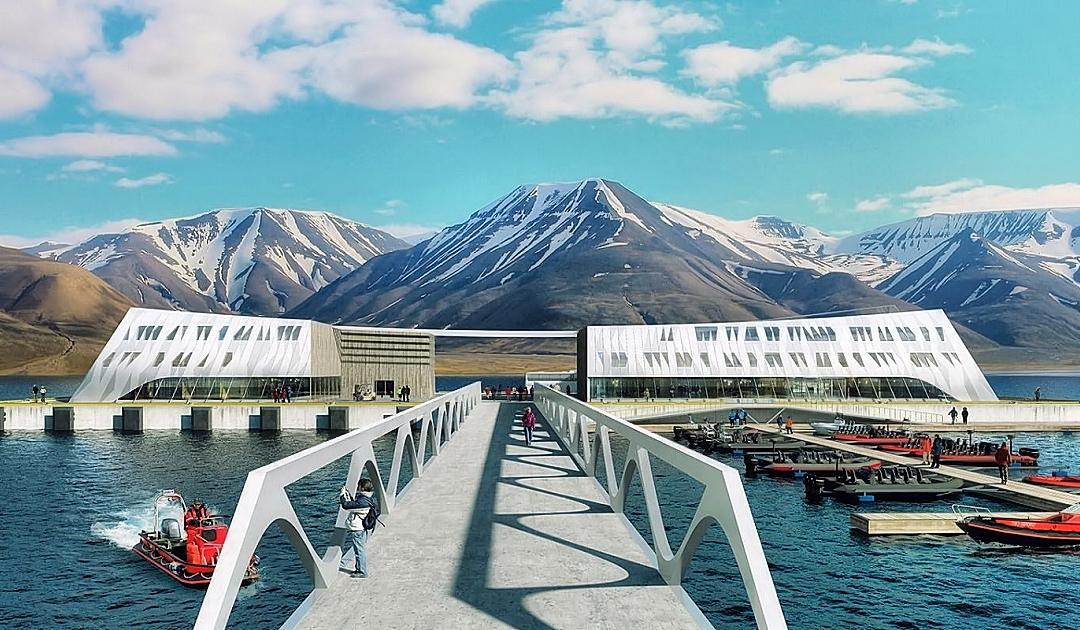Neues Quai für Longyearbyen macht vorwärts