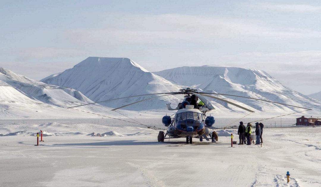 Neuer russischer Hubschrauber in Svalbard bereit