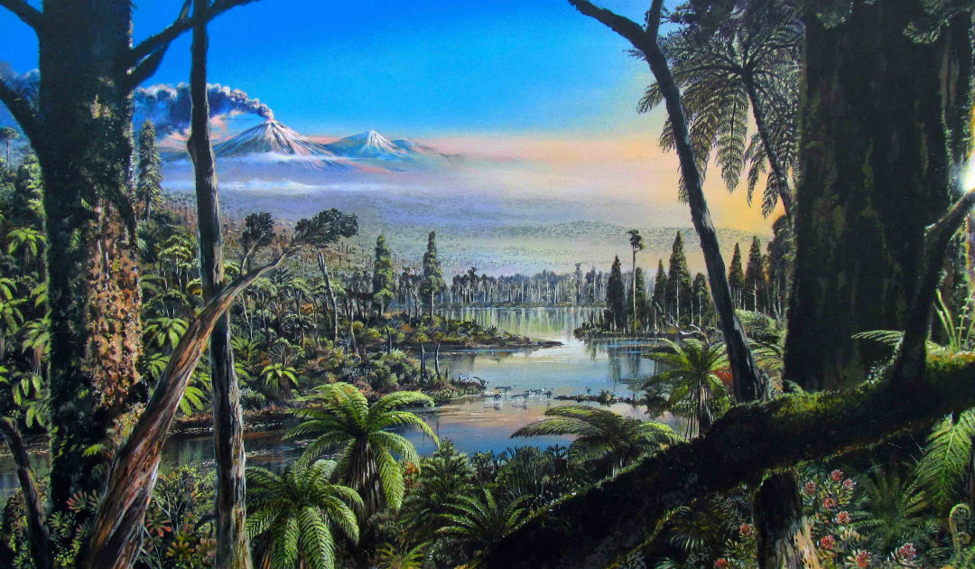 Regenwald in der Antarktis zu Zeiten der Dinosaurier