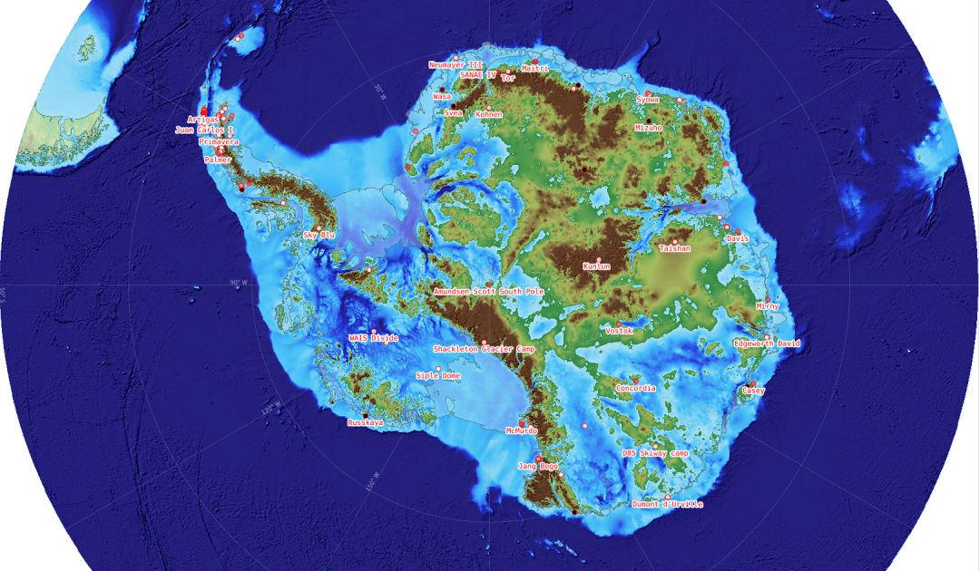 New Antarctic map reveals hidden secrets