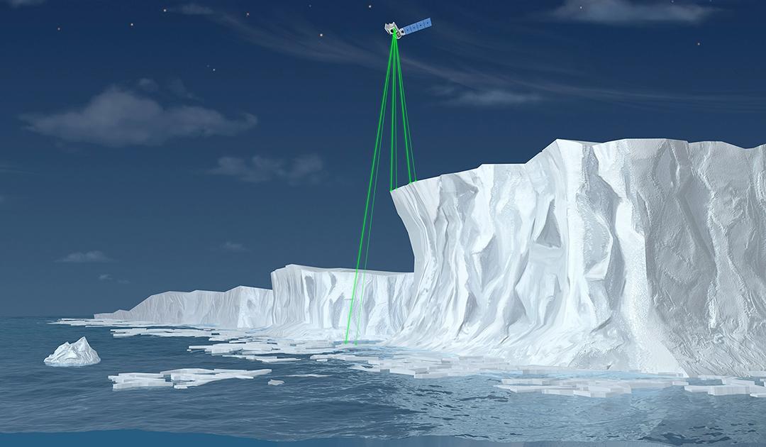 Laser-Satelliten machen Eisverlust über 16 Jahre sichtbar