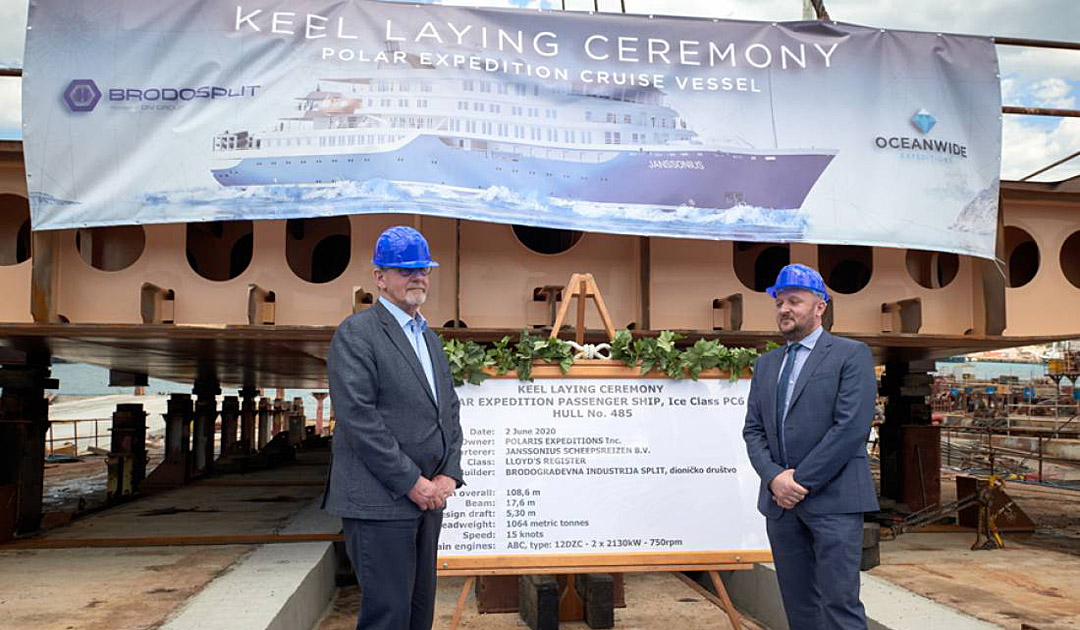 "Keel laying of Oceanwide's ""Janssonius"""
