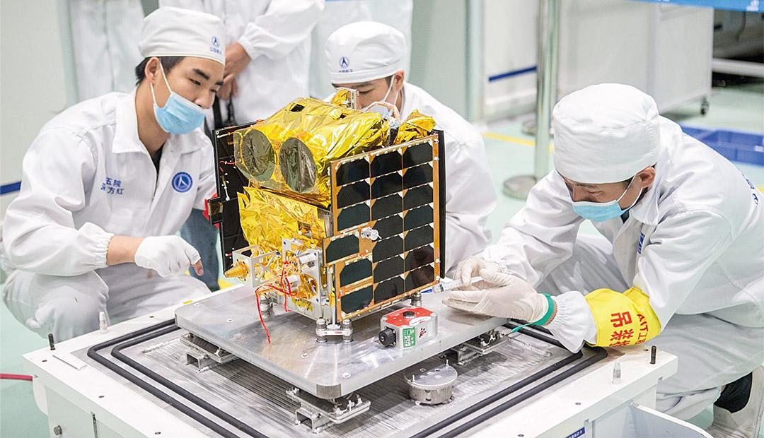 Chinesischer Mikrosatellit überwacht die Pole
