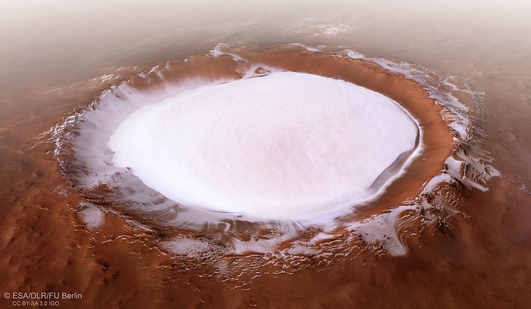 Flug zum Mars-Nordpol