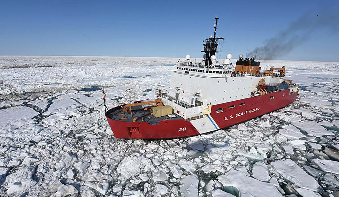 "Fire on US icebreaker ""Healy"""