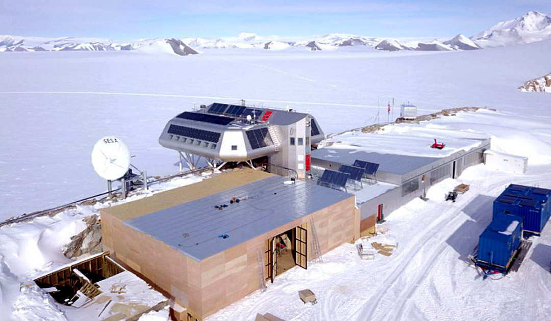 Neue Garage für belgische Antarktis-Station
