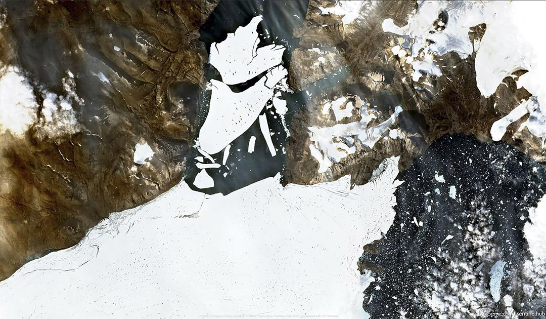 Gewaltiger Abbruch am größten Eisschelf der Arktis