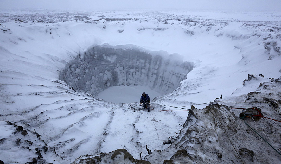 Mysterious crater discovered in Siberia