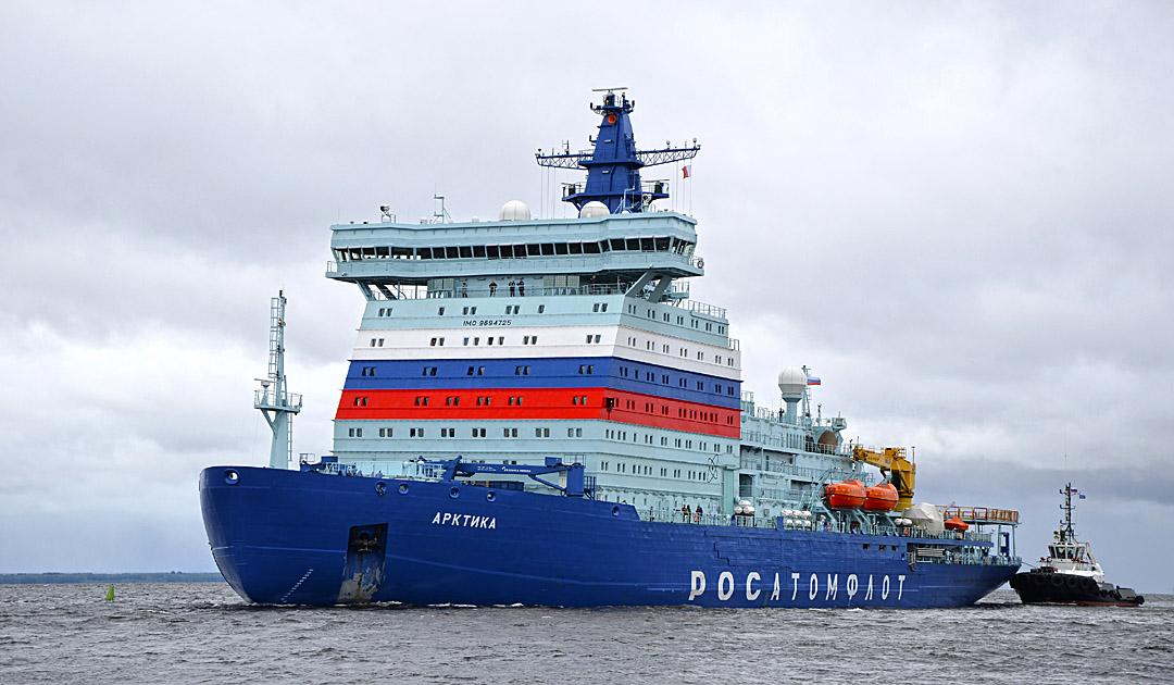 Eisbrecher «Arktika» auf Jungfernfahrt