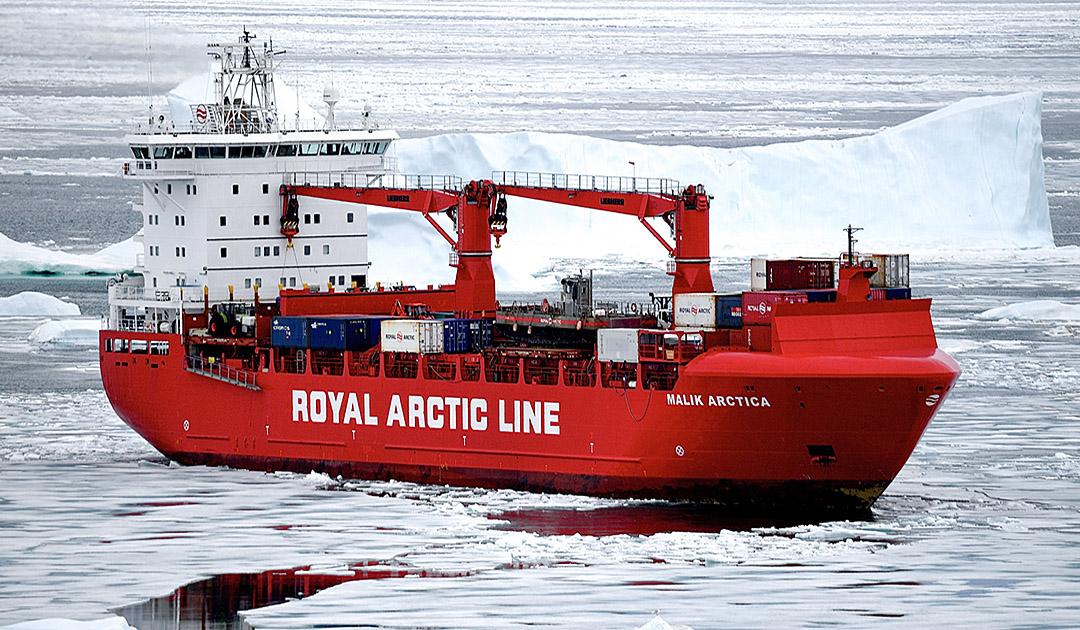 Grönland – Versorgungsschiff im Eis gefangen