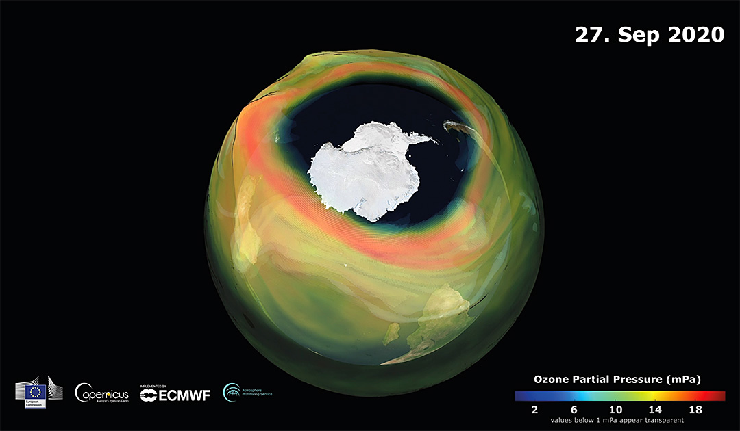 One of the largest ozone holes in years