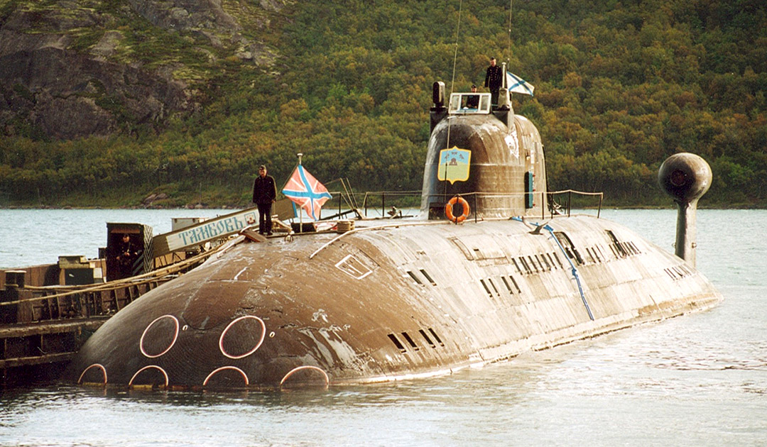 Old nuclear submarine comes to life