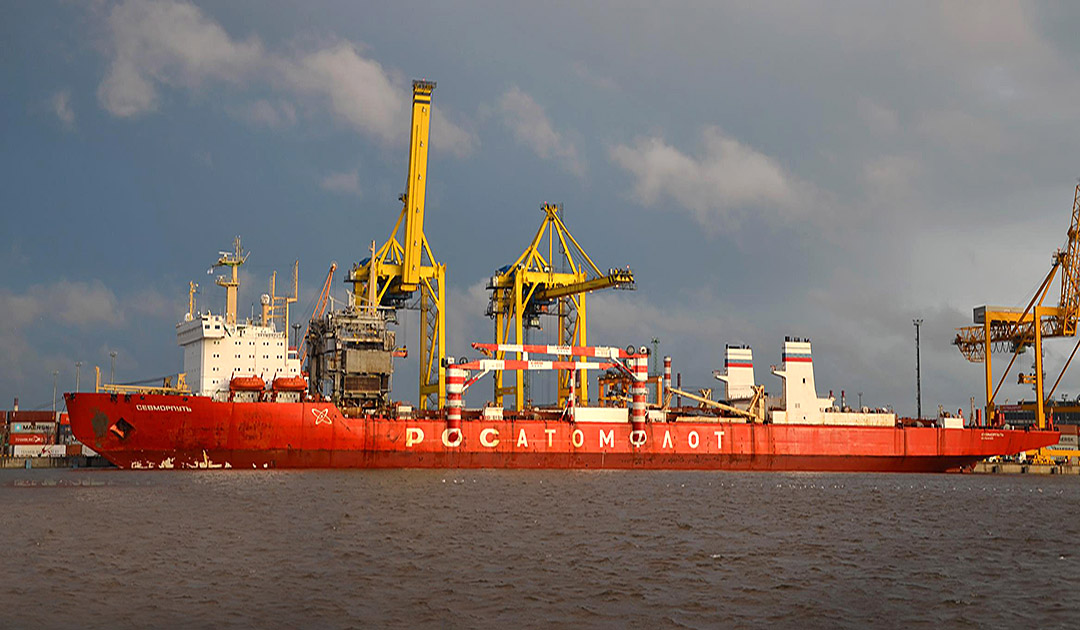 """Sevmorput"" with problems off Angola"
