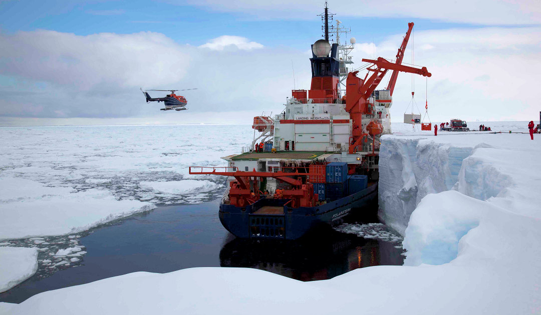Icebreaker Polarstern goes south