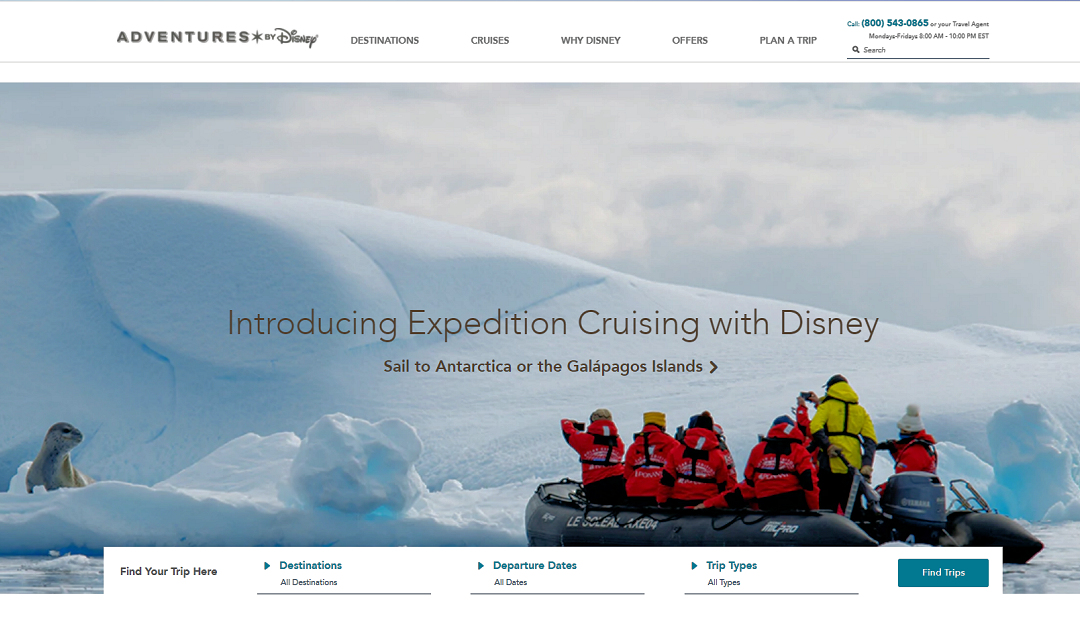 Disney goes Antarktis – Expeditionsangebot für Familien