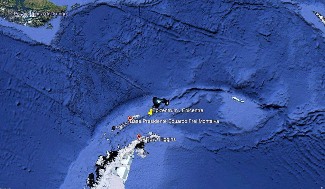 Schweres Erdbeben erschüttert Antarktis