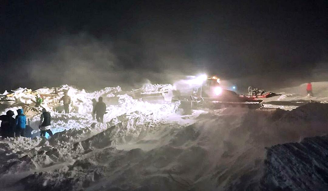 3 Tote bei Niedergang einer Lawinen bei Norilsk