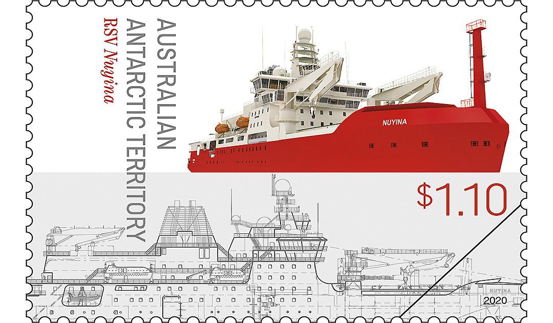 Eisbrecher «Nuyina» hat es auf Briefmarke geschafft