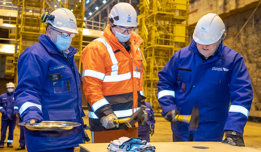 "Keel laying of the ""SH Vega"" from Swan Hellenic"