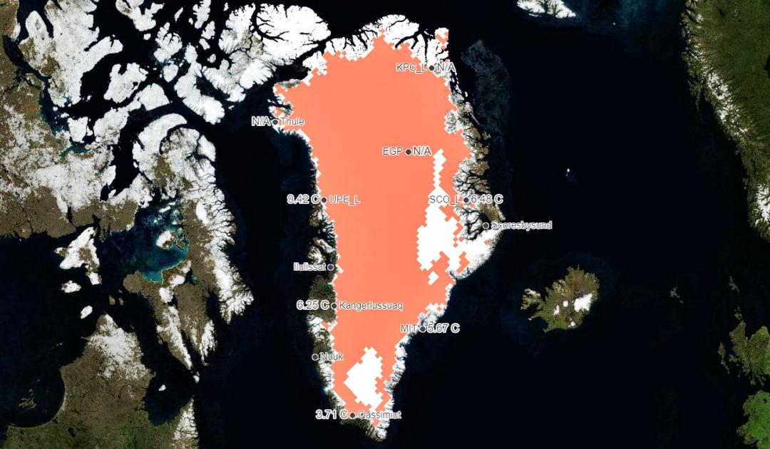 Rekordschmelze 2012 wirkt sich heute auf Eisschild aus
