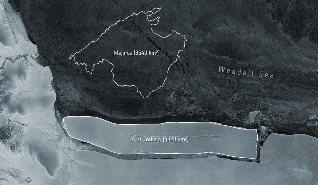 Geburt eines neuen Eisgiganten im Weddellmeer gemeldet