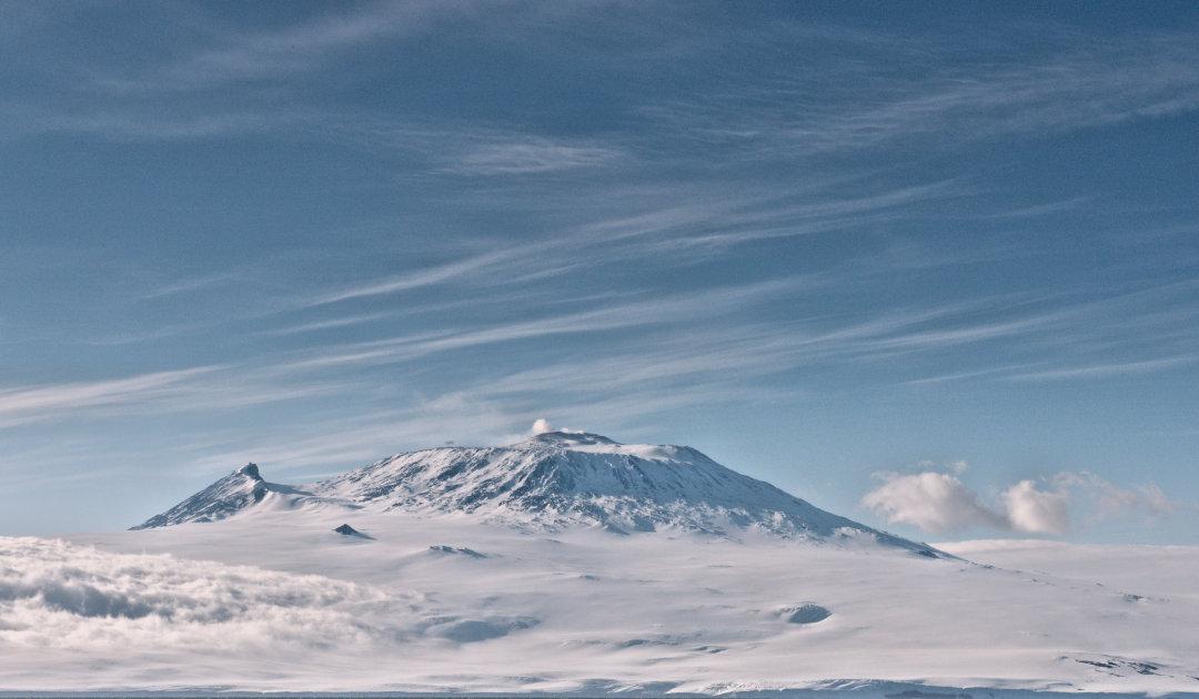 Antarktischer Vulkan zittert bei weit entfernten Erdbeben