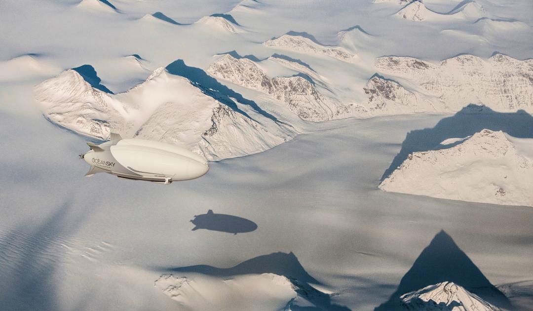 In Zukunft nachhaltiger zum Nordpol mit neuem Luftschiff