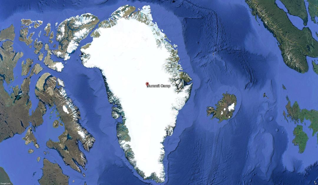 Regenfälle auf höchstem Punkt des grönländischen Eisschildes