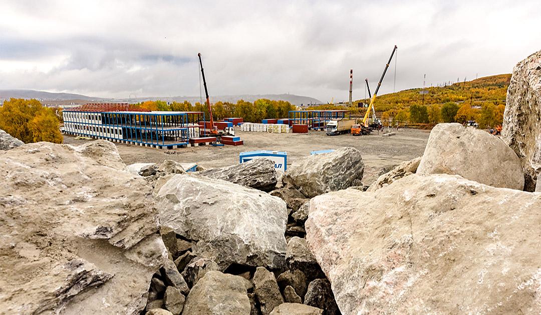 Arbeiten am Hafen Lavna wieder aufgenommen